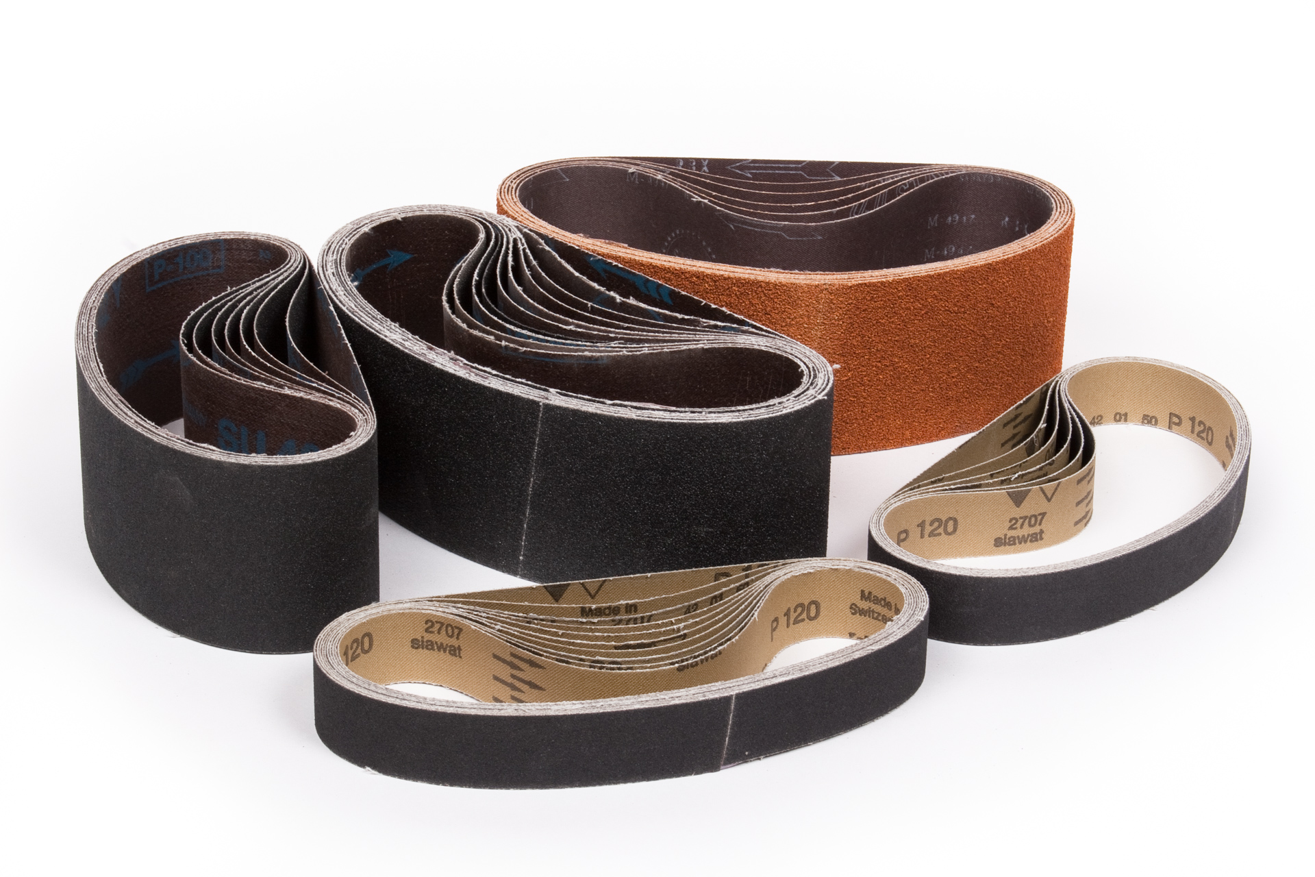 sand paper belts for the glass industry